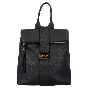 Kožený batoh Delami Adella – černá