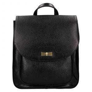 Dámský kožený batoh Hexagona Amelia – černá